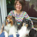 Gayle Crabtree with Teddy and Jackie-L